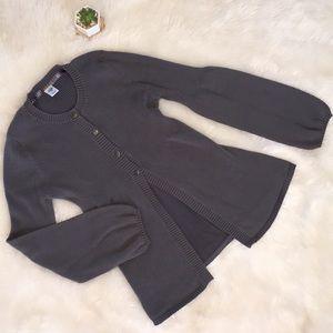 prAna Half Button Half Open Grey Cardigan M